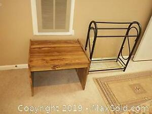 Table And Blanket Rack B