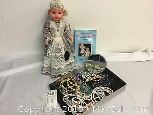 Vintage Doll and Jewellery