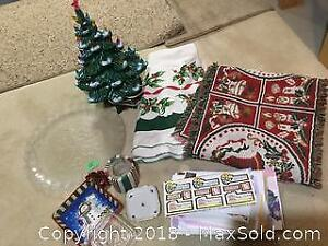 Collection of Christmas decor items