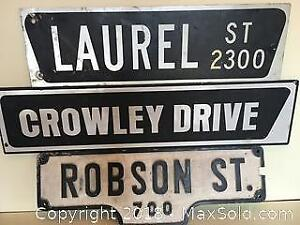 Metal Street Signs from British Columbia