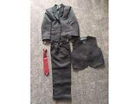 4 Piece Black Boys Suit Age 5