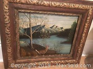 Antique Oil Painting Signed by the Artist. H. Walker