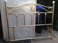 Brass Double Bed Headboard