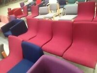 confortable office reception red chair armchair