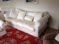 Sofa & 2 Armchairs. Large 3 Piece Suite. Luxury, 2 sets of covers.