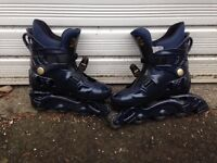 Inline skates - size 4 - decent condition + knee pads