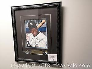 Certified Autograph of Chicago White Sox Frank Thomas. Framed and Matted. - A