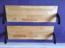 Solid wooden shelves