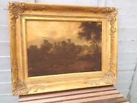 Pair of early 19th Century oil paintings depicting scenes near Warwick Castle