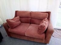 Russet two seater Next sofa.