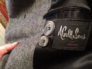 A. Gold & Sons Gray Wool Coat Size 44 - Excellent Condition West Island Greater Montréal image 1