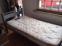 Single Metal Bed with Plenty Space for Storage Underneath