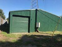 Large Galvanised Steel Workshop/Storage Shed NOT ERECTED