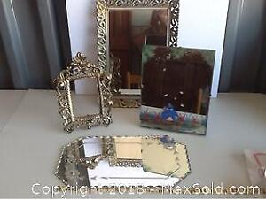 Lot Of Vintage Mirrors And Brass Frame