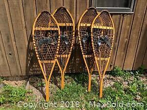 Two Pairs Of Adult Size Snow Shoes -A
