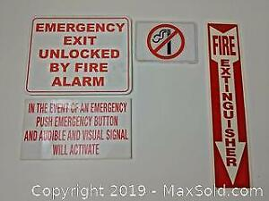Emergency Wall Signs