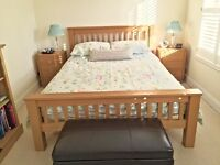 Solid Oak King Size Bed - High Quality - Spare Bed so Perfect Condition