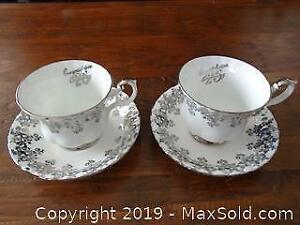Pair of Royal Albert Cups and Saucers