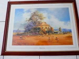 """D'ARCY DOYLE FRAMED PRINT """"TAKING IT SERIOUSLY Main Beach Gold Coast City Preview"""