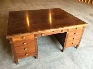 Antique 2 sided office desk