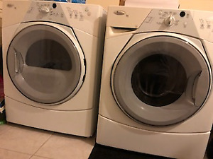Whirlpool Dual Washer & Dryer Duet Set  . Used
