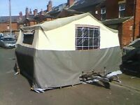 Conway Trailer Tent With Awning Extension. Camping/Glamping.