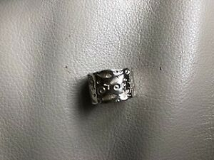 Birks Sea pattern band Silver Ring, Size 6, NEW in box