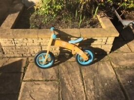 Kids Wooden Balance Bike in great condition