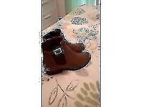 Tan new look size 5 ankle boots