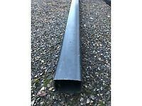 "4 metre length 4"" black down pipe"