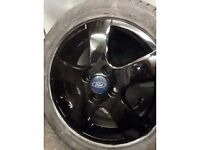 ford 16 inch alloy x 4 with mint tyres 5 to 6 mm