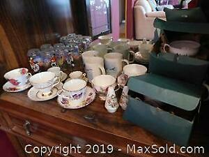 Cups and Saucers, Glasses, Mugs A