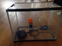 24 litres fish tank, net and tap safe
