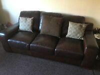 3 seater Black leather sofa for sale #70