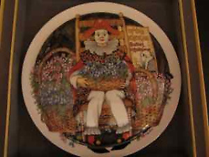 """COLLECTOR PLATE """"Behind the Painted Masque"""""""