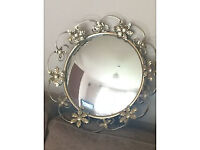 Vintage Bevelled Floral Mirror. Good Condition