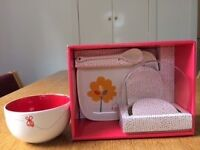 M&S 3 Piece Baby Breakfast Set - Ideal Baby Gift - Bowl, Spoon & Plate