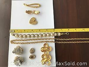 Costume Gold Jewellery Lot