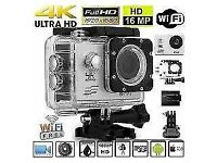 **4K HD Extreme Sports Camra, Wi-Fi, Remote Control and included 16GB SD card**