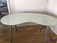 Ikea Galant Glass top table/desk