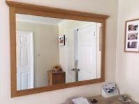Mirror Large with Teak Frame