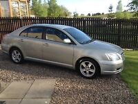 Good condition Toyota Avensis 1.8 54 plate...low miles full years Mot