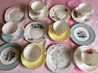 Vintage Mix & Match China tea cups, saucers, plates