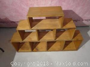 Solid Pine Shelving Unit