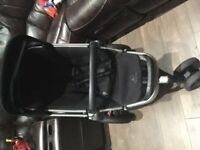 Quinny Buzz pushchair with raincover, tyre pump and car seat adaptors