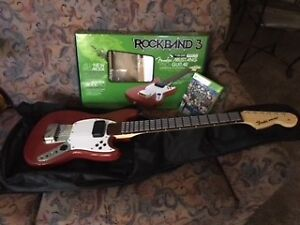 Xbox 360 Rock Band 3 Wireless Fender Stratocaster Guitar Control