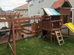 Swing set and Play house