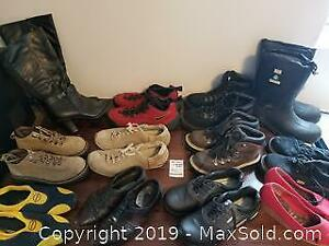 10 pairs shoes, 2 pair boots