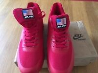 Nike Airmax red trainers, size (UK) 7.5
