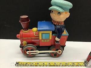 large Tin Toy train 1960s Japan